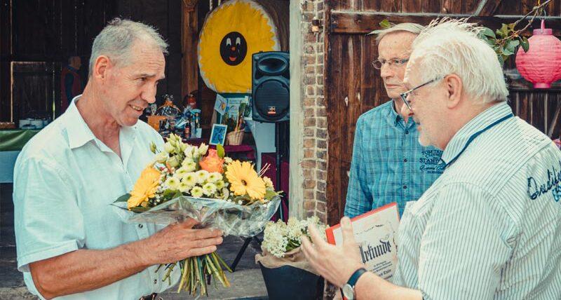 Erhard Thäle (links) mit dem Vorsitzenden Hartmut Walter (Mitte) und Lutz Glasewald (Vizepräsident Organisation/Verbandsentwicklung, rechts), Quelle: Christian Walter